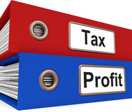 Tax Profit Folders Show Paying Income Taxes Royalty Free Stock Images