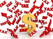Tax rain From dollars Stock Photos