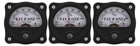 Tax raise indicator vector illustration