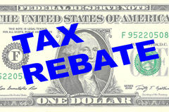 Tax Rebate concept Royalty Free Stock Image
