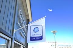 Tax Rebate sign in Europe Stock Image