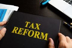 Tax reform on an desk. Stock Images