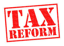 TAX REFORM. Red Rubber Stamp over a white background Stock Photo