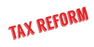 Tax Reform rubber stamp Stock Photos