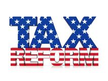 Tax Reform with United States Flag Isolated Royalty Free Stock Photo
