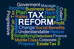 Tax Reform Word Cloud royalty free stock photography