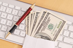 Tax Refud Cash. Getting Tax Refund Cash Fast By Doing Taxes Online Royalty Free Stock Images