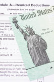 Tax Refund Cheque. Close up of part of a tax refund check stock images