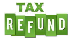 Tax Refund Green Professional. Tax refund text alphabets written over green background Stock Photography