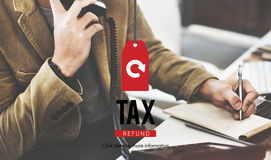 Tax Refund Income Paying Revenue Statement Pay Concept Royalty Free Stock Images