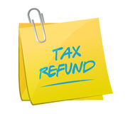 tax refund memo post illustration design Stock Photography