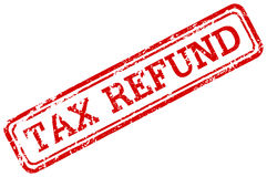 Tax refund red rubber stamp Royalty Free Stock Photos