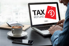 TAX REFUND and refund Tax Refund Fine Duty Taxation Royalty Free Stock Photography