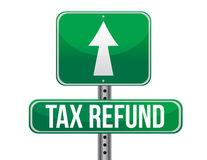 Tax refund sign Stock Image