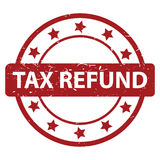 Tax refund stamp. Illustration of a tax refund stamp with a white background Royalty Free Stock Photos