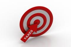 Tax refund target Royalty Free Stock Photos