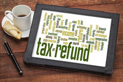 Tax refund word cloud Royalty Free Stock Image