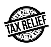 Tax Relief rubber stamp. Grunge design with dust scratches. Effects can be easily removed for a clean, crisp look. Color is easily changed Stock Images