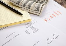 Tax report concept Stock Photography