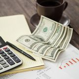 Tax report concept Stock Photos
