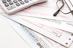 Tax return Royalty Free Stock Photos