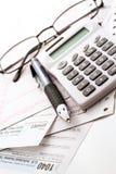 Tax return Stock Photography