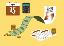Tax return concept. Stock Photo