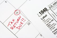 Tax Return Due! Stock Photo