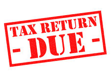 TAX RETURN DUE Royalty Free Stock Photos