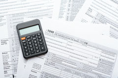 Tax return form Royalty Free Stock Photos