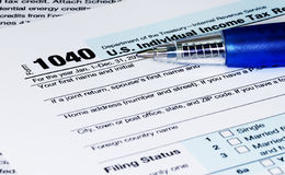 1040 Tax Return Form Stock Image
