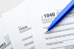 Tax return form Stock Image