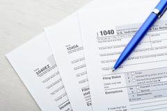 Tax return form Stock Photography