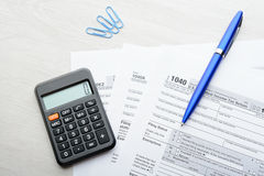 Tax return form Royalty Free Stock Images