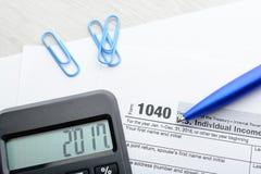 Tax return form Stock Photos