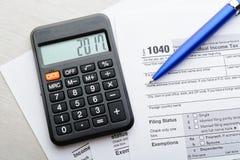 Tax return form Royalty Free Stock Photo
