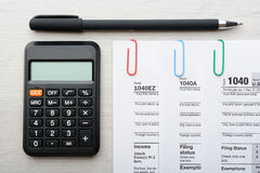 Tax return form Royalty Free Stock Image