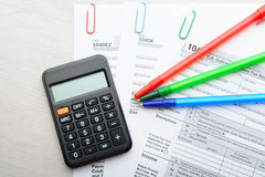 Tax return form Stock Images