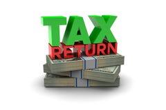 Tax Return. Illustration isolated on white background Stock Photo