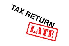 Tax Return Late royalty free stock photography