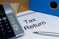 Tax return papers Royalty Free Stock Photography