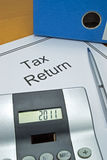 Tax return papers Stock Image