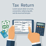 Tax return on tablet Royalty Free Stock Photo