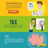 Tax return time set icons. Vector illustration design Royalty Free Stock Photography
