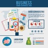 Tax return time set icons. Vector illustration design Stock Image