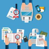 Tax return time set icons. Vector illustration design Stock Photography