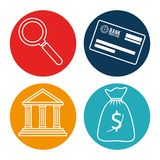 Tax return time set icons. Vector illustration design Stock Images