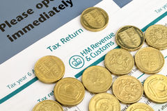Tax Return UK Stock Image