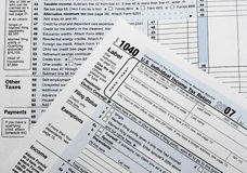 Tax Returns Stock Photography