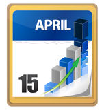 Tax returns day marked on a calendar. Illustration design Royalty Free Stock Image